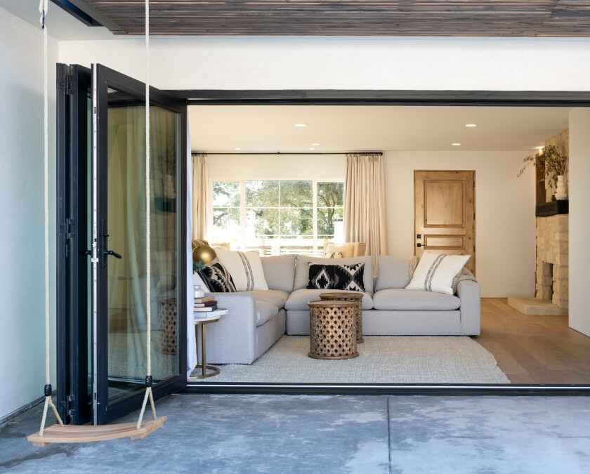 The bi-fold doors from the living area to the backyard make indoor-outdoor living and entertaining a breeze.