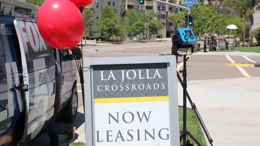 La Jolla Crossroads is a high-end apartment leasing complex.
