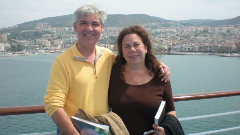 Among the victims was civil litigator Jeffrey Tidus, seen above with his wife, Sheryl, on a cruise i