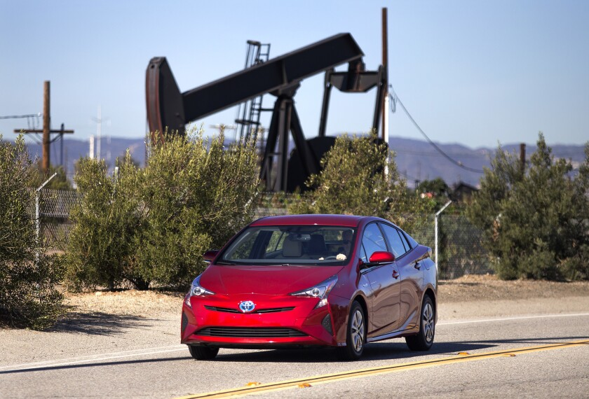 Toyota Motor Corp. recalled 340,000 Prius cars due to a defect in their parking brake. The gas-electric hybrid, pictured in this file photo, is a popular Toyota vehicle.