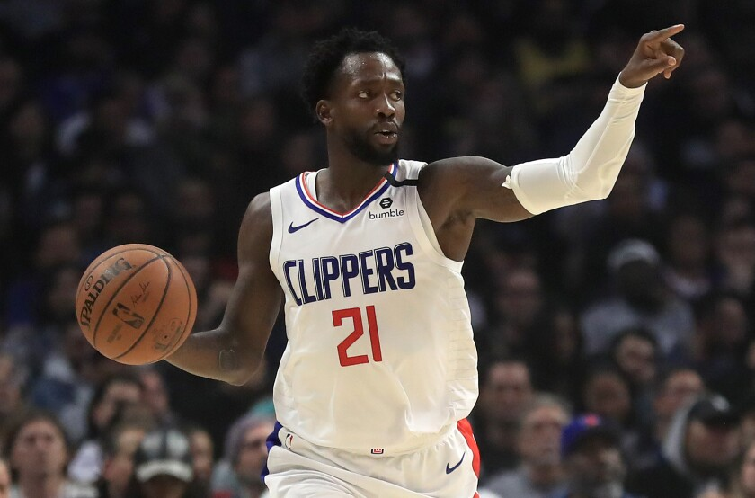 Clippers guard Patrick Beverley brings the ball up court during a game earlier this season.
