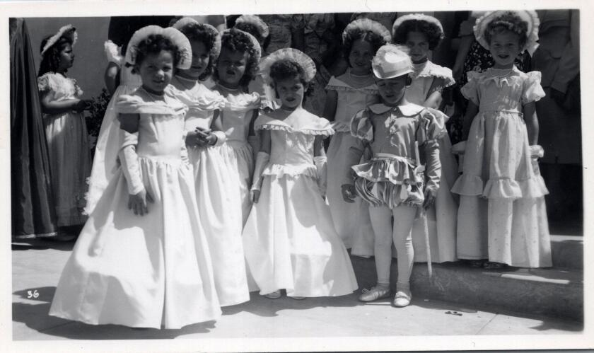 Children dress for the Festa parade in Point Loma in the 1930s.