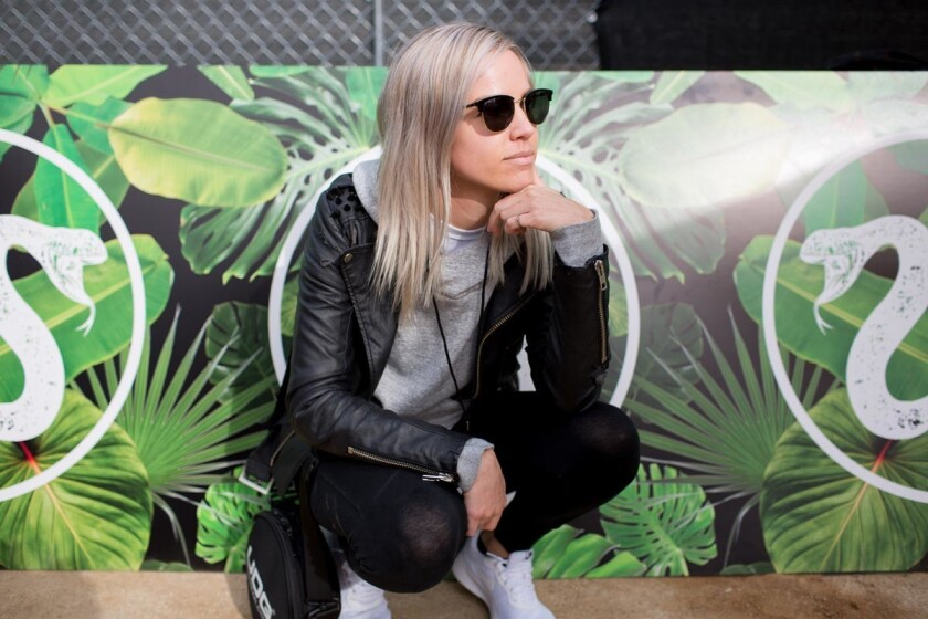 Thousands of fans flocked to Waterfront Park in downtown to attend the Spring 2017 CRSSD Fest on Saturday, March 4 and Sunday, March 5, 2017. San Diego DJ Lee K performed on the City Steps Stage on Saturday. (Arlene Ibarra)