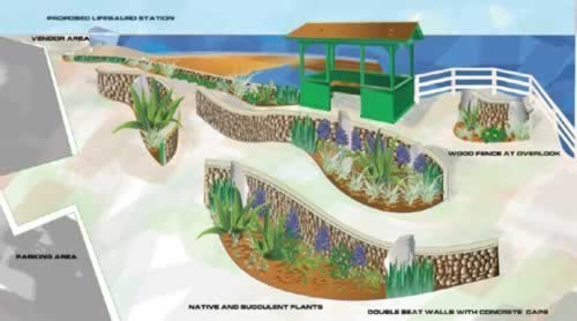 Rendering of the Coast Walk beautification project. Courtesy