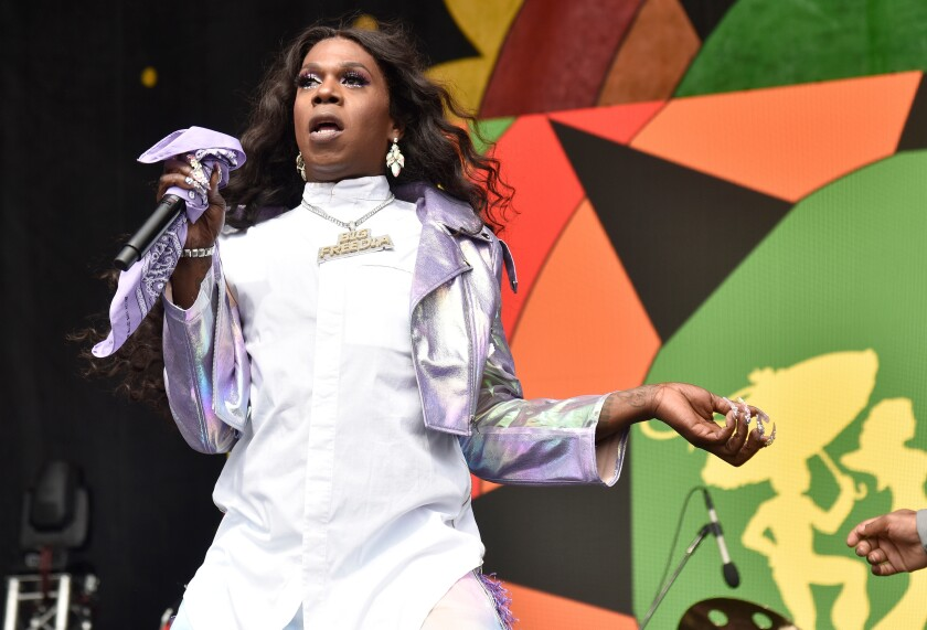 A photo of Big Freedia at the 2019 New Orleans Jazz Heritage Festival