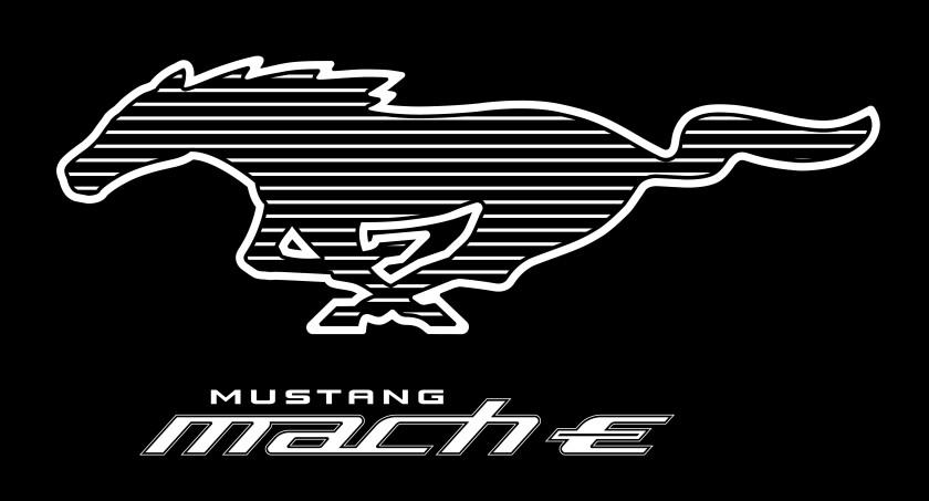 Mustang Mach-E Pony White Stripe logo
