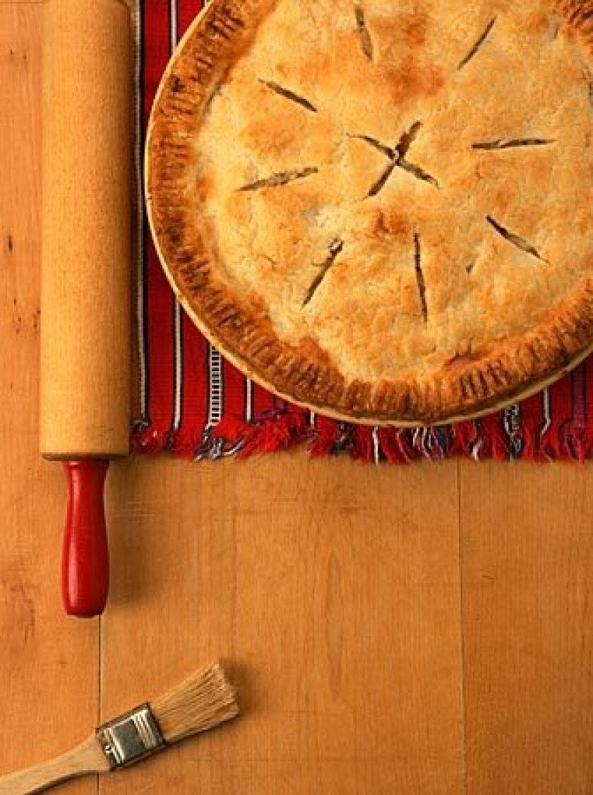 Fruit pie? That's so summer. Slice into this pie and prepare to savor the comforting mix of chicken, leek and fennel.