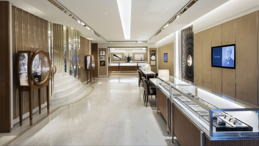 The Tiffany flagship at 210 N. Rodeo Drive has been renovated to include the company's first watch salon west of Chicago.