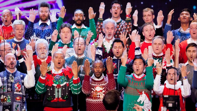 The Gay Men's Chorus of Los Angeles will return to this year's L.A. County Holiday Celebration at Th
