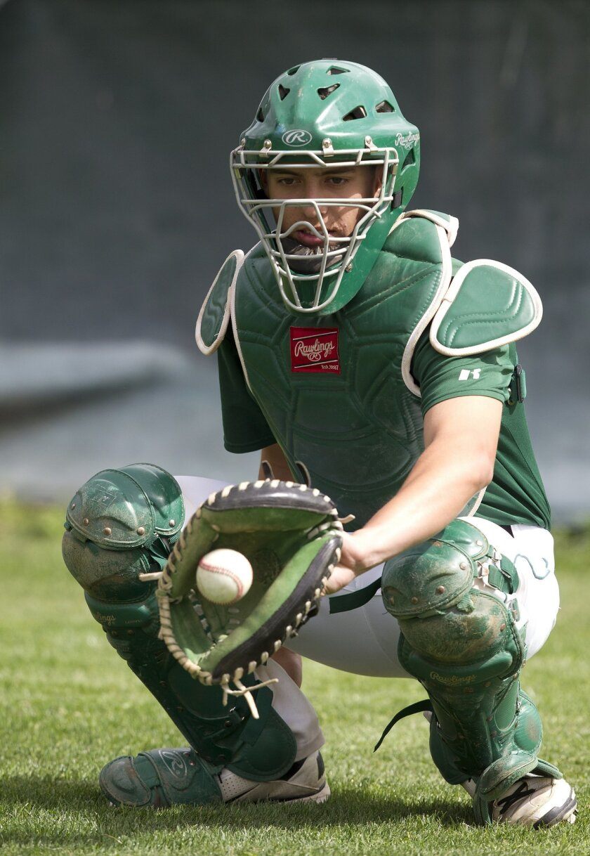 Helix junior catcher Diego Reynoso helps guide one of the top pitching staffs in the San Diego Section.