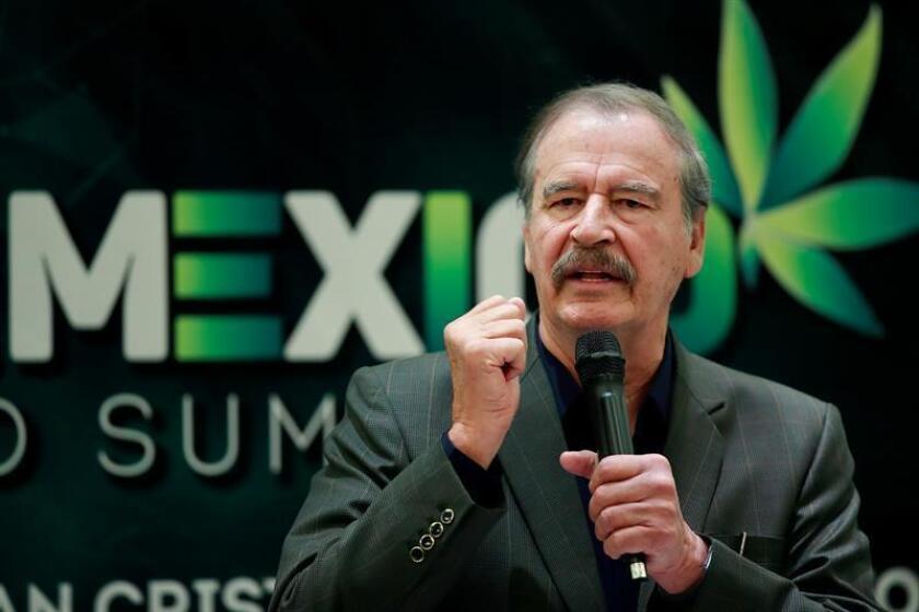 Fotografía archivo del expresidente de México Vicente Fox durante una rueda de prensa en Ciudad de México (México). EFE/Archivo