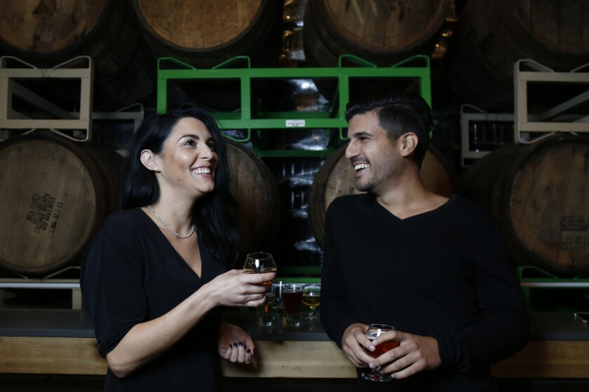 Lauren and Kevin take a tour of the Green Flash Brewery in Mira Mesa.