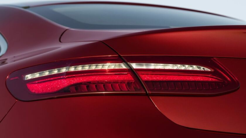 Crystal optics create a stardust appearance in the taillights.