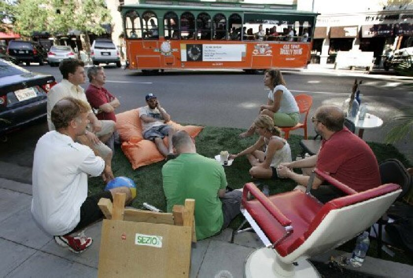 Joining people in cities worldwide to transform parking spaces into miniparks for 