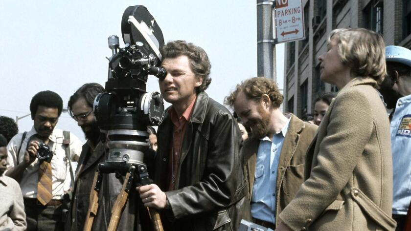 """Gordon Willis during production of """"The Godfather."""""""