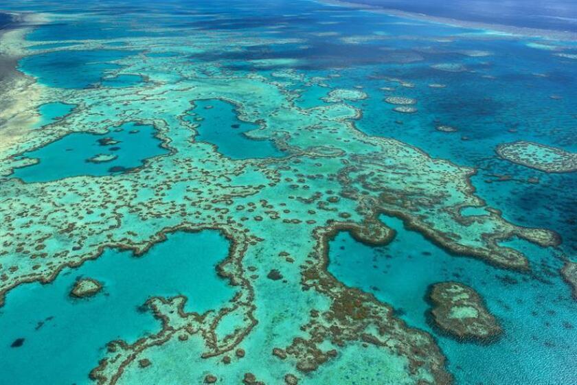 Fotografía facilitada por la Autoridad del Parque Marino de la Gran Barrera de Coral, de una vista aérea del parque. EFE/SOLO USO EDITORIAL