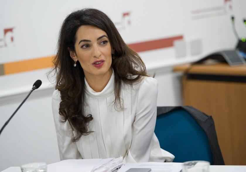 International human rights lawyer Amal Clooney, wife of actor-director George Clooney, has launched a scholarship program for girls from Lebanon.