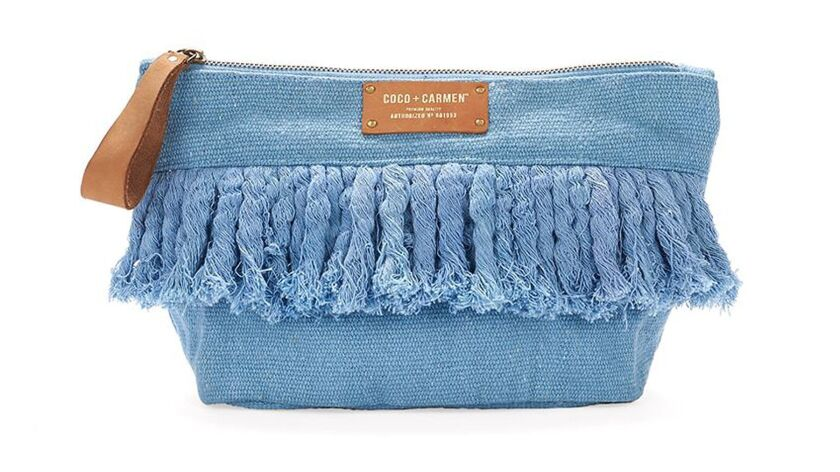 Recycled cotton is used for these pouches from Coco + Carmen. $25 at cococarmen.com Credit - Coco +