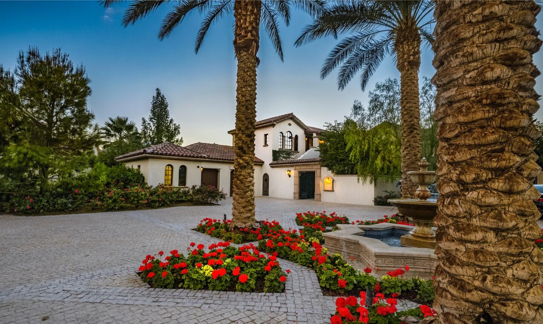 The Mediterranean villa is found in La Quinta's exclusive Madison Club community.