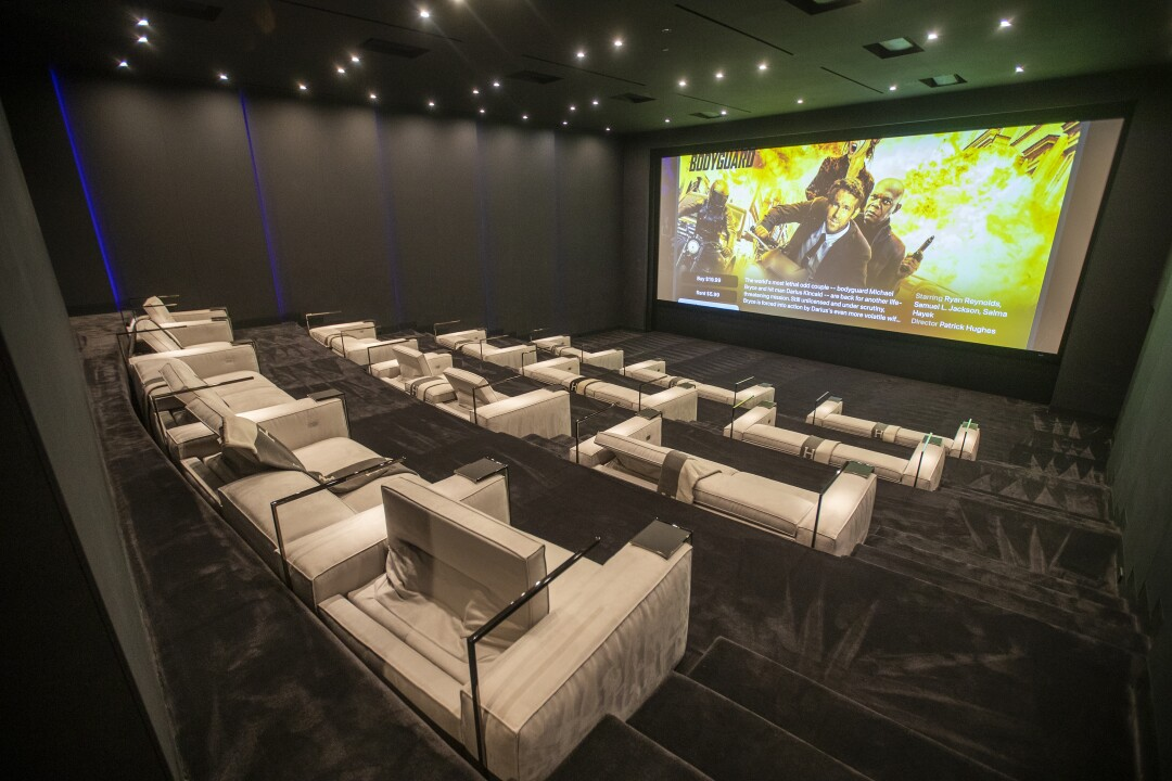 A view of a 50-seat theater at The One.