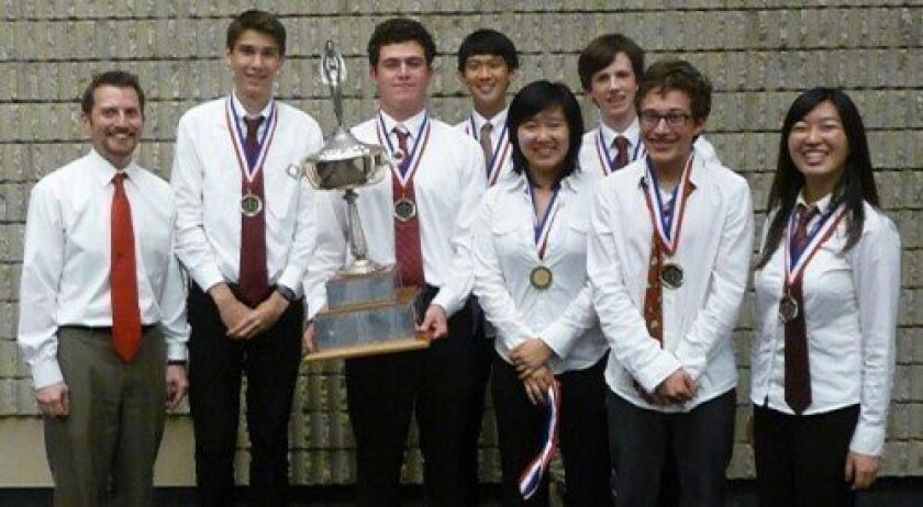 The Canyon Crest Academy varsity team