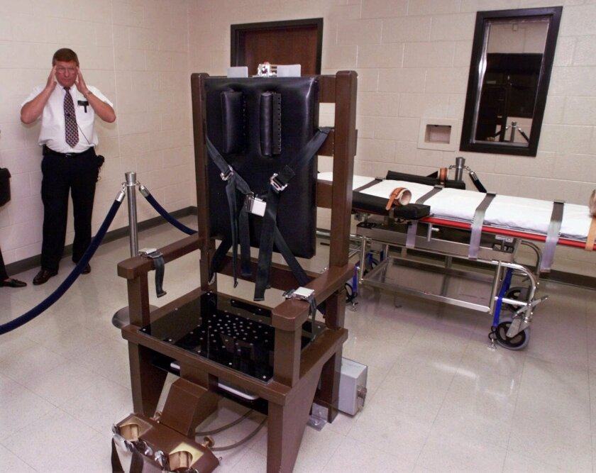Tennessee's execution chamber in 1999; the state may bring back the electric chair if it runs out of drugs for lethal injections.