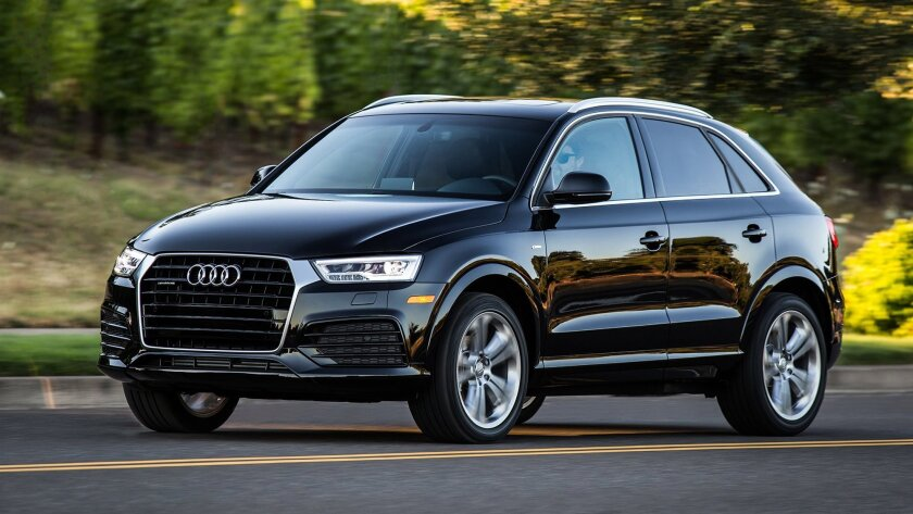 This photo provided by Audi shows the 2016 Audi Q3 crossover SUV. With a starting retail price of less than $35,000, the Audi Q3 delivers fun, nimble handling and Audi prestige in a small package. The smallest of Audi's three SUVs, the Q3 also is a recommended buy of Consumer Reports magazine, wher