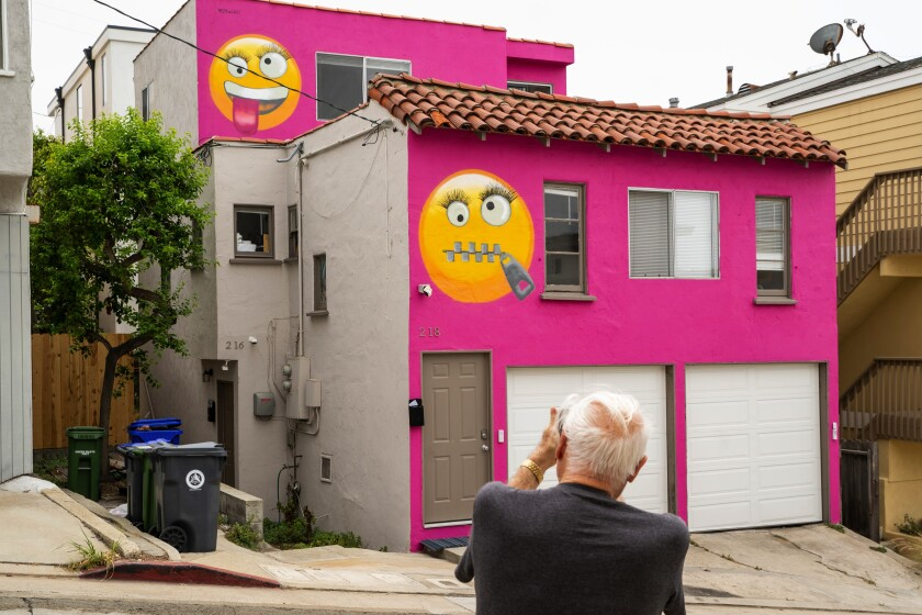 The hot-pink Manhattan Beach home that roiled a neighborhood last year sold in March for $1.55 million.