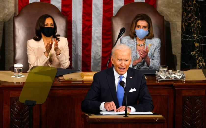 El presidente Joe Biden habla ante el Congreso