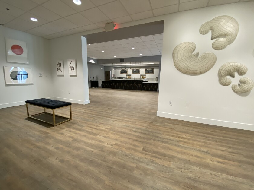 A gallery within the Center for the Arts in Grass Valley.