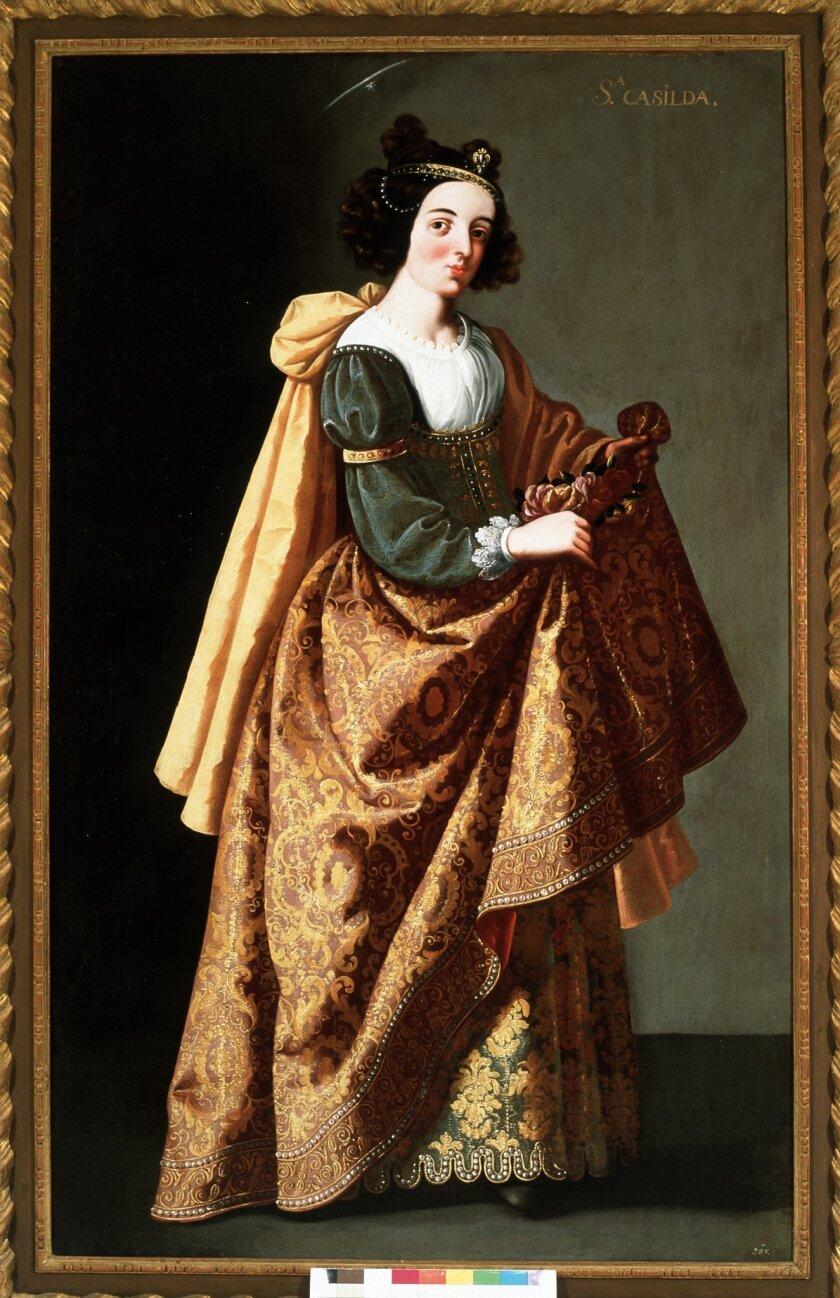 """Santa Casilda,""  oil on canvas, by Ignacio de Ries, a 17th-century follower of Zurbarán."