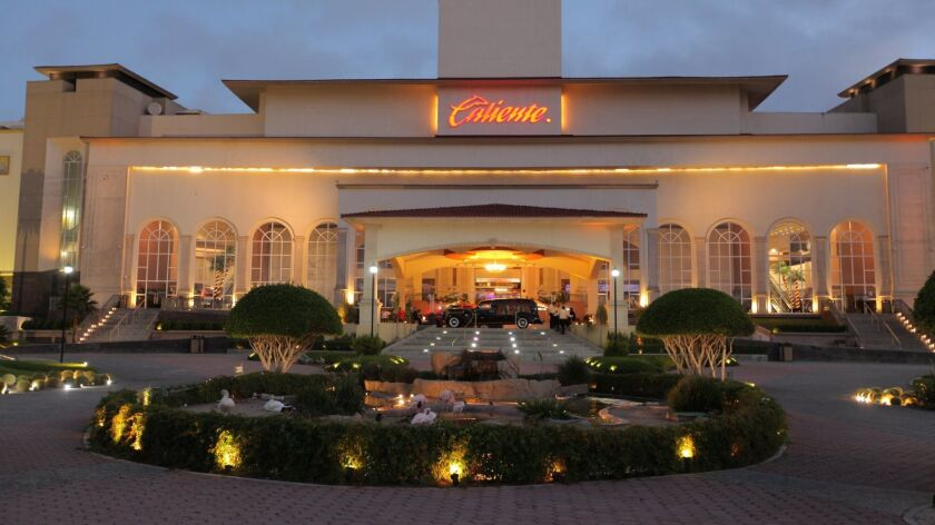 One of the Caliente casinos in Tijuana. Since the 1920s, there has been one form or another of gambl