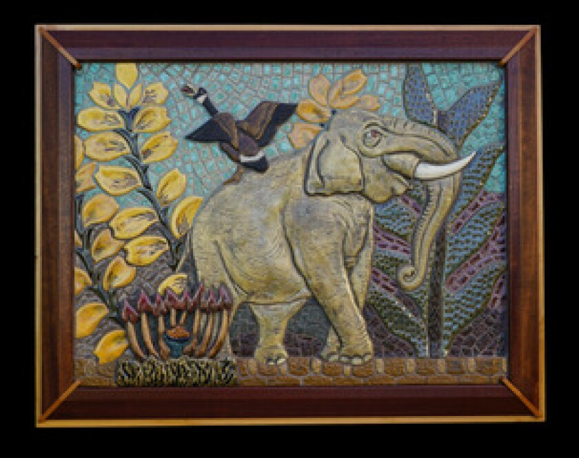 """The Elephant and the Goose"" is one of Karen Bouse's featured works."