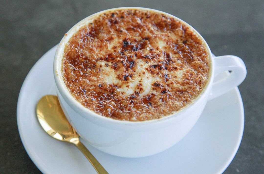 The Creme Brûlée Latte at the Mostra coffee shop in Carmel Mountain Ranch.