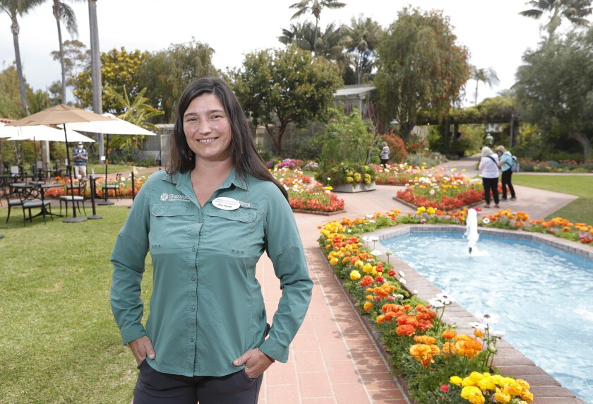 Erin Aguiar has been named the horticulture director at Sherman Library & Gardens in Corona del Mar.