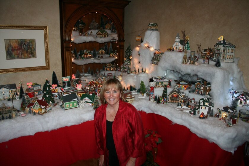 Rancho Santa Fe's Dianne McKay creates a massive Christmas village every year for her family and friends to enjoy. Photos by Karen Billing