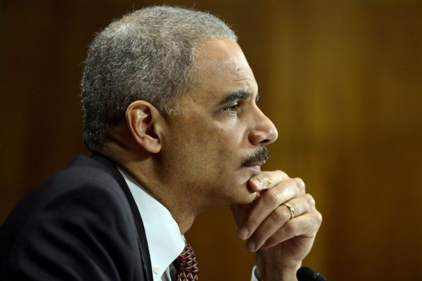Atty. Gen. Eric H. Holder Jr. responds to a question during a Senate Judiciary Committee hearing.
