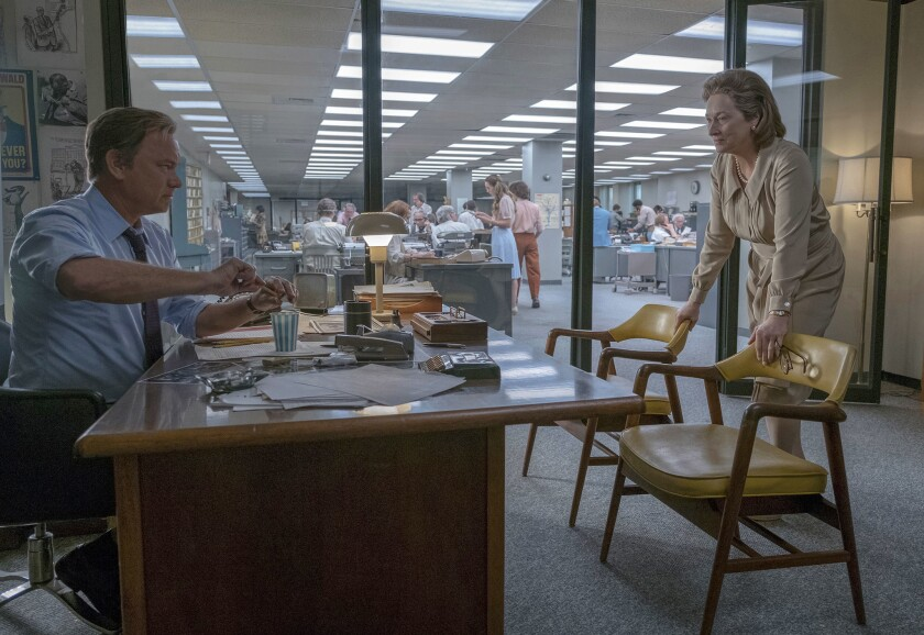 The Post starring Meryl Streep, Tom Hanks and Alison Brie.