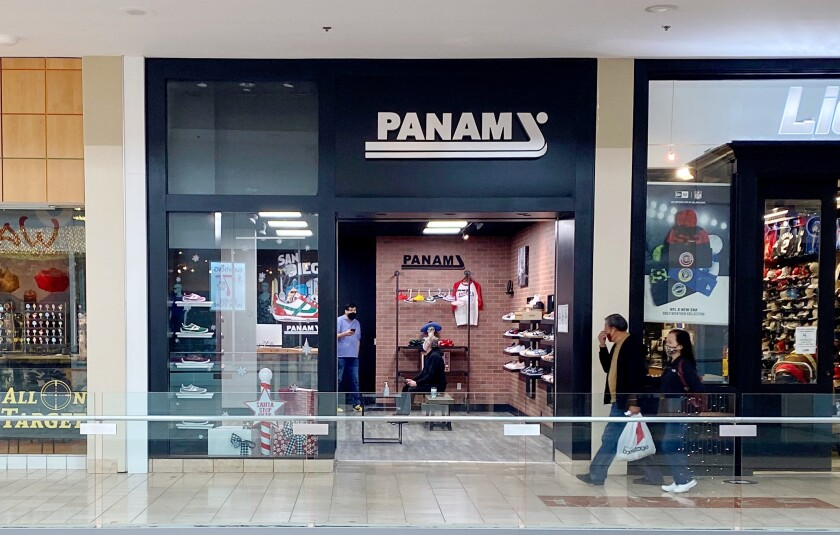 The Mexican brand PANAM opened its first shoe store in the United States at Plaza Bonita in National City.