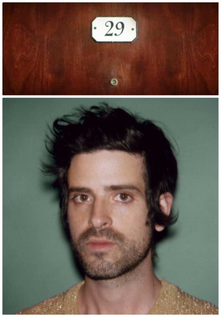 Chateau Marmont's room 29, top, will work as the set where musician Devendra Banhart, below, models Band of Outsiders' spring 2014 menswear collection.