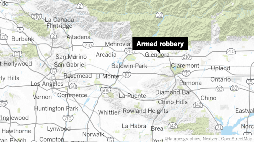 Armed robbery in Glendora