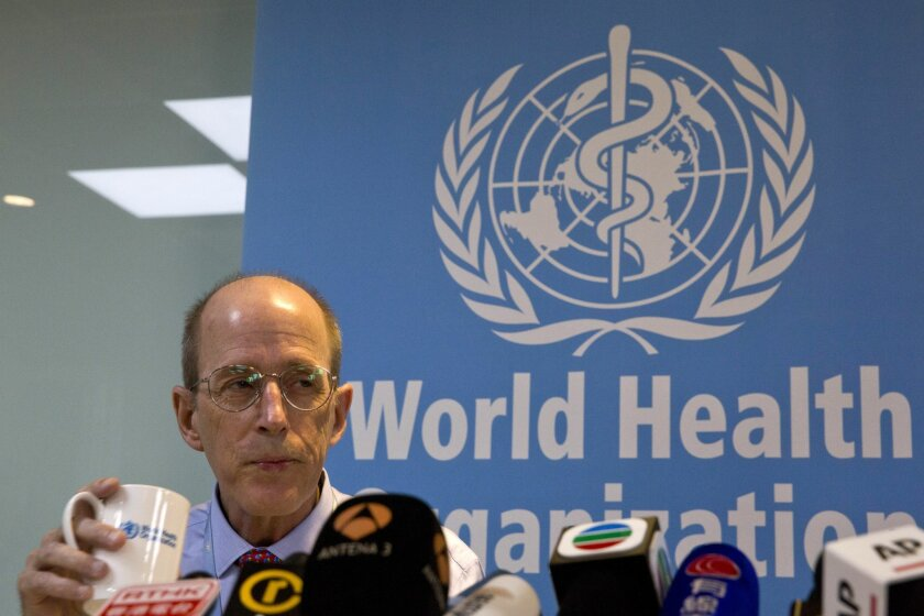 Dr. Lance Rodewald of World Health Organization (WHO) China's immunization program listens to questions during a press conference in Beijing, China, Tuesday, March 29, 2016. China must exert stronger oversight over vaccines sold on the private market in the wake of a developing scandal involving expired or improperly stored vaccines, the World Health Organization said Tuesday. (AP Photo/Ng Han Guan)