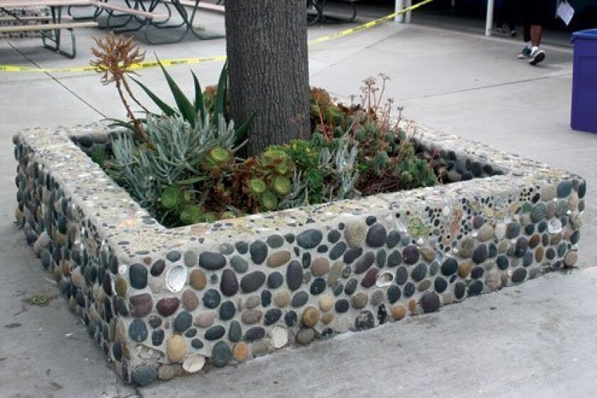 This planter was designed by the Class of 2006 and given to Bird Rock Elementary School.