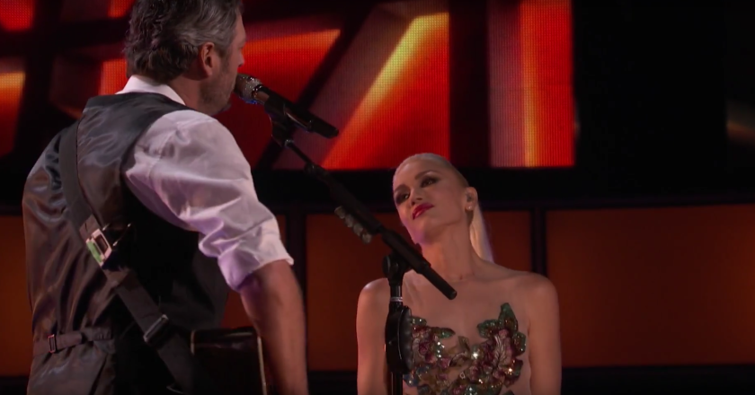 """Gwen Stefani and Blake Shelton perform on Monday's episode of """"The Voice."""""""