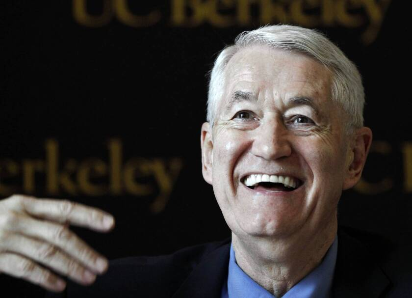 After retiring in June, UC Berkeley Chancellor Robert J. Birgeneau -- shown here in 2011 -- will head up a national effort to study and help public universities in an era of reduced tax support, new technology and changing student demographics.