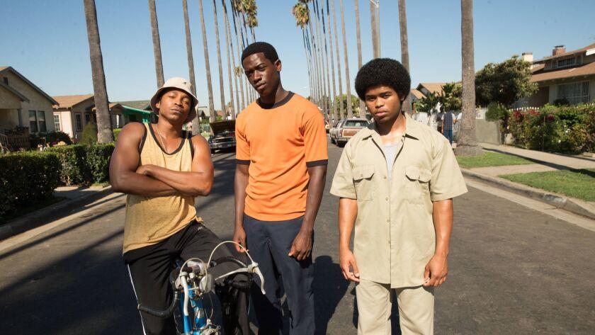 "Malcolm Mays as Kevin, Damson Idris as Franklin, Isaiah John as Leon in the pilot of FX's ""Snowfall."