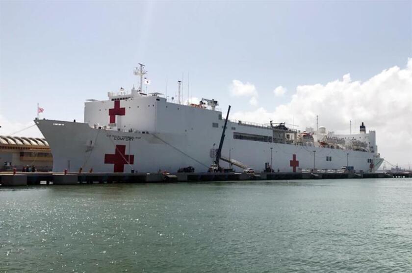 El Pentágono confirmó hoy que el buque hospital que desplegará en aguas colombianas será el USNS Comfort, un barco con capacidad para más de mil pacientes y que ayudará a las autoridades de ese país a hacer frente a la llegada masiva de refugiados procedentes de Venezuela. EFE/Archivo