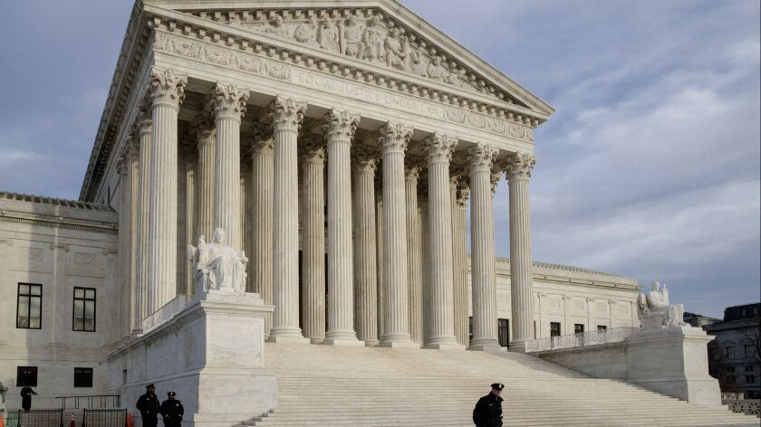 FILE - This Feb. 14, 2017, file photo shows the Supreme Court in Washington. The Supreme Court has s