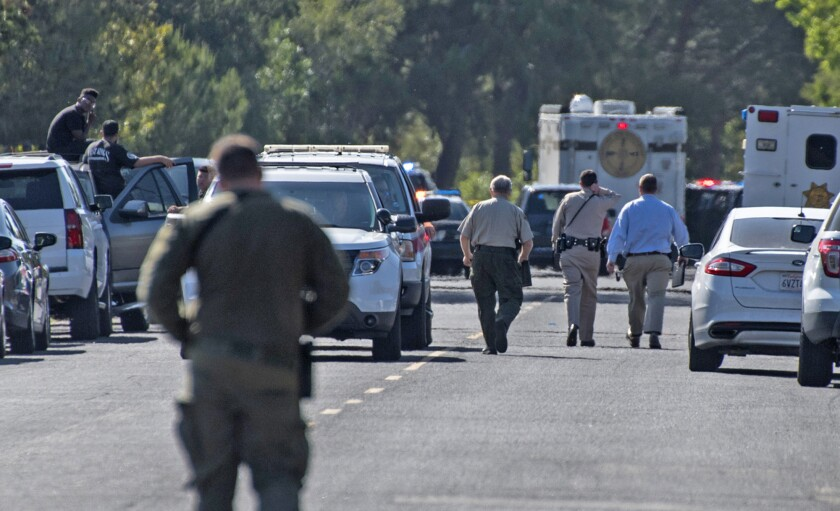 Investigators review scene in Solvang where law enforcement were in a shootout with 19-year-old Fernando Castro.