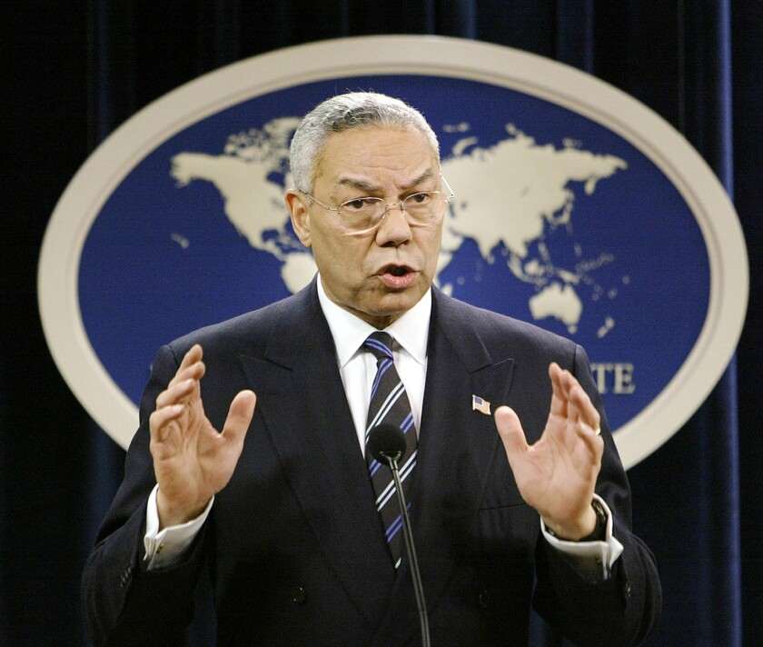 A White House document concludes that the CIA initially kept the secretary of State and some U.S. ambassadors in the dark about harsh techniques and secret prisons, according to the document. Colin Powell was the secretary of State in 2004.